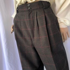 VINTAGE   High waisted pleated front wool pants